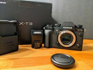 FUJIFILM X-T3 Mirrorless Digital Camera (Body Only, Black) - Barely Used