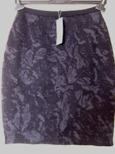 $178 BNWT Eileen Fisher Washb Strch Wool Cotton Flora Jacquard CHARCOAL Skirt XL