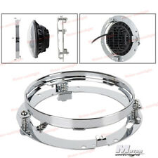 7'' LED Headlight Mounting Ring Bracket Chrome For Jeep Wrangler CJ