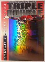 Hologram Insert: 1993 Upper Deck 3D Standouts Michael Jordan Triple Double #TD2