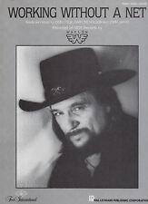 Waylon Jennings sheet music Working Without a Net 1986 4 pp. Nm shape