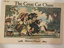 The Great Cat Chase: A Wordless Mini Book by Mercer Mayer 1974 First Printing PB