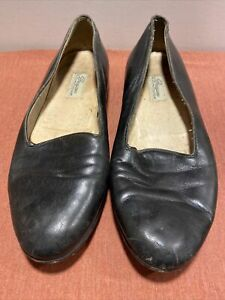 Men's Size 9 Bragano By Cole Haan Black Leather Slip On Loafers