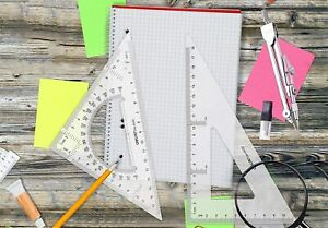 Large Triangle Ruler Square Set Protractor 2 PC Size 1, Free Shipping