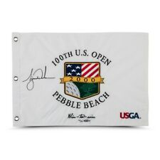 Tiger Woods Signed Autographed 2000 U.S. Open Pin Flag Wire-to-Wire #/500 UDA