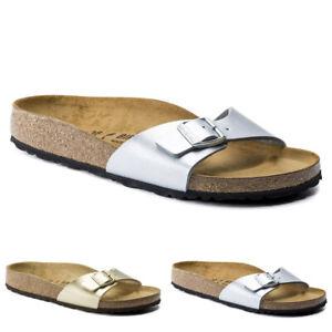 Womens Birkenstock Madrid Birko-Flor Adults Summer Sandals US 4-12.5