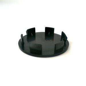 4 Pcs ABS Plastic 58mm / 53mm Black Car Wheel Center Hub Caps Decorative Cover