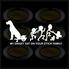 My Daniff Sat On Your Stick Family Dog Sticker Decal Great Dane Mastiff Funny