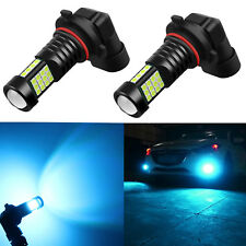 Alla Lighting 2x 2000lm H10 9145 Ice Blue 3030 SMD Auto Truck LED Fog Light Bulb