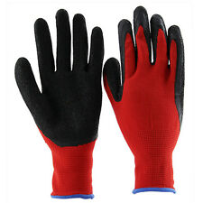 Thicken Latex Coated Rubbber XL Work Gloves Builder Gardening Mechanic Safety YR