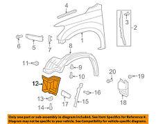 TOYOTA OEM Sequoia Front Fender-Liner Splash Shield Extension Left 538060C030
