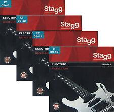 4x Saiten für E-Gitarre Elektrische Gitare 09er Seiten Stahl Nickel Stagg EL0942