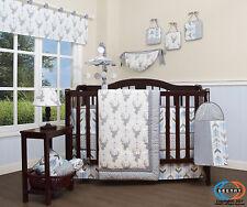 Baby Woodland Deer Arrow 13 Piece Nursery Crib Bedding Set
