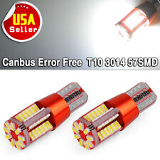 2x Super Bright White T10/T15 Canbus 57SMD Led Backup Reserve Light Bulb W5W 194