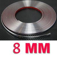 8mm * 15m Chrome Self Adhesive Car Parts Door Edge Styling Moulding Trim Strip ~