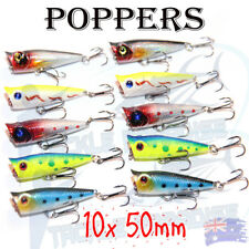 10X 50mm Popper Poppers Topwater Fishing Lures Surface GT Game Tackle Saltwater