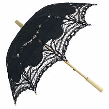Black Fans and Parasols for Weddings