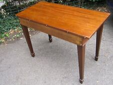 Large Mahogany Side Table  with Spade Feet - Victorian
