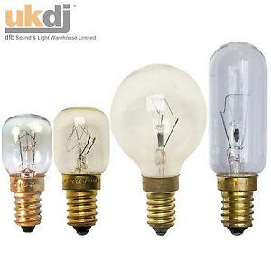 15W 25W 40W 300° Degrees Degree ES E14 OVEN LIGHT LAMPS  240V & Cooker Hood Bulb