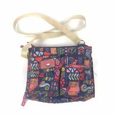 Lily Bloom Over Shoulder Strap Bag Multicolored Purse Owl Motive Zip Pockets