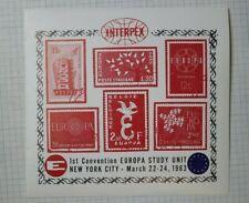Interpex March 22 1963 Europa Study Unit Ny Souvenir Ad Label