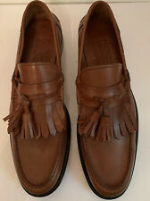 Salvatore Ferragamo Nairobi  Men's Brown Tassel Leather Loafers Shoes Size 11 D