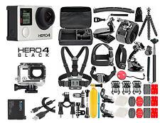 GoPro HERO 4 Black Edition Camera +50PCS Accessory +OEM Battery +Waterproof Case