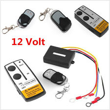 12V Car Truck Jeep ATV Wireless Winch Kit With 2pcs Key Remote Control Universal