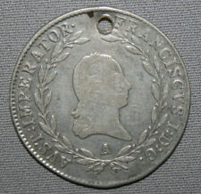 AUSTRIA 1813 - A FRANCIS I 20 KREUZER SILVER COIN