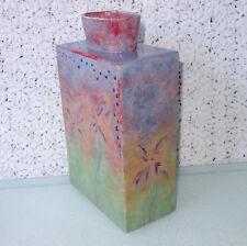 "Mid Century Danish Modern Studio Art POTTERY Vase GORGEOUS MONET COLORS – 10.25"""