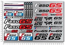 F650GS Adventure motorrad motorcycle quality stickers decal set bmw f650 GS red