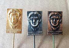 Zlatko Snajder Croatian communist - Complete set of 3 different pins Large pins