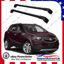 Top Roof Rack Buick Encore 2013 - 2019 Black Baggage Luggage Cross Bar Crossbar