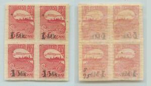 Estonia 1922 SC 55 mint block of 4 . f1056