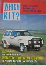 Which Kit? magazine 04/1989 featuring Pastiche, Pimlico Premier, Dutton Beneto
