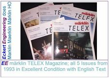 EE märklin TELEX Magazine all 5 Issues from 1993 in Excellent Condition English