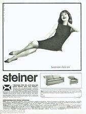 PUBLICITE ADVERTISING 026  1964  Steiner  canapé fauteuil