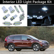 10PCS Xenon White LED Interior Lights Package kit Fit 2013 - 2016 Honda CR-V J1