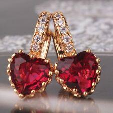 18k gold filled garnet promising fashion engagement leverback earring
