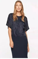 BRAND NEW WT JIGSAW SILK VELVET DEVORÉ OVERLAY MIDI DRESS SIZE S/10, RRP £139