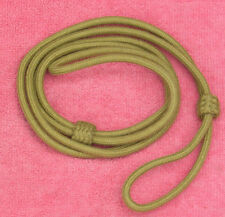 British Khaki Wool Lanyard for WWI or WWII Pistol or Revolver