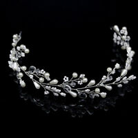 Chic Charm Crystal Tiara Hair Band Wedding Bridal Headband Gold/Silver Headdress