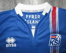 FYRIR Island KSI Iceland Football Team jersey blue errea National soccer shirt L