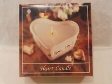 Longaberger Heart shaped candle refill rose scent New in box Mothers Day wedding