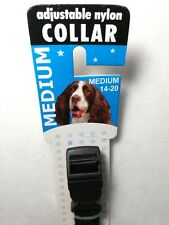 Adjustable Nylon Dog Collar MED