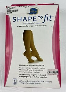 Womens 15-20 mmhg Compression Knee Stockings  Dr Comfort Shape to Fit BLACK M