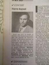 PIERRE RAPSAT EN CONCERT - RAYMOND DEVOS - SERGE GAINSBOURG - 01/03/1996 -
