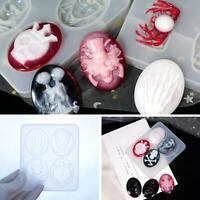 1PC Silicone Halloween ItemSkull Making Mold Resin Epoxy Casting Mould Craft DIY