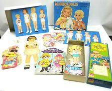 Huge Vtg Paper Doll Cut Uncut Lot 13 Modern Dolls Very Best Friend Queen Holden
