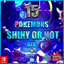 "Pack 15 Pokemon Competitivos ""Shiny or not"" a elegir  🚀 + ditto shiny JP 🚀"